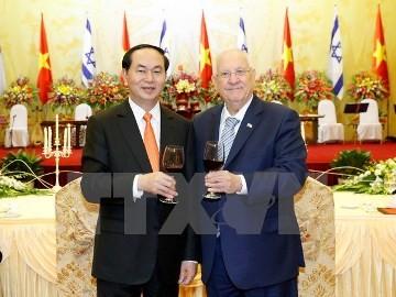 クアン主席、イスラエル大統領の歓迎レセプションを主催 - ảnh 1