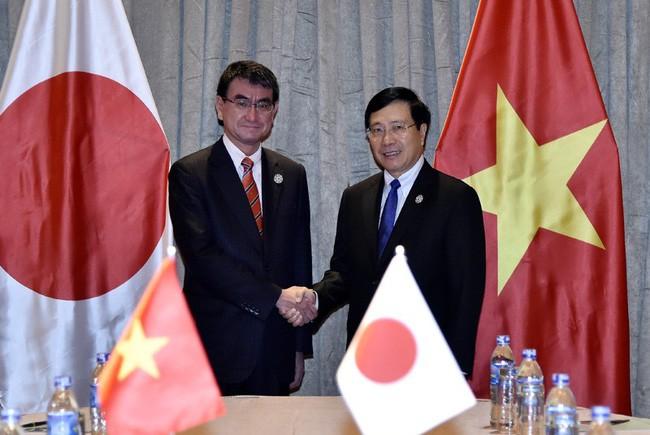 ミン副首相兼外相 日本の河野外務大臣と会見 - ảnh 1