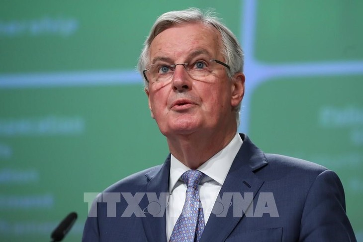 EU、対英交渉で6月までに「目に見える進展」目標=首席交渉官 - ảnh 1
