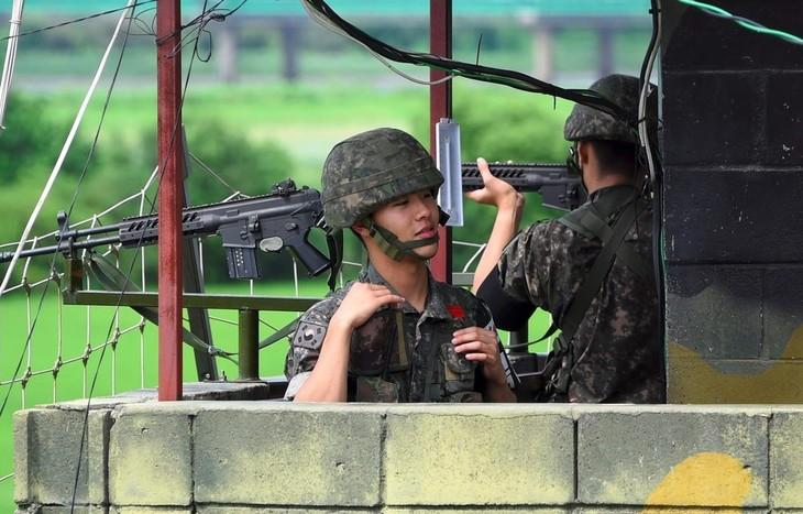 南北軍事境界線 朝鮮側から数発銃撃 けが人なし 韓国軍発表 - ảnh 1