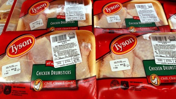 中国、米食肉大手タイソン工場からの鶏肉輸入停止 - ảnh 1