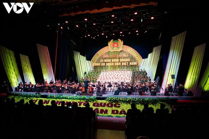 公安部隊の「伝統の日」75周年記念の芸術公演 - ảnh 1
