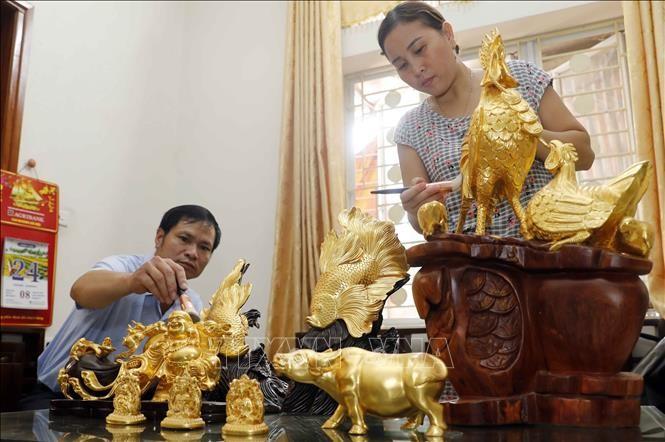 金箔製造のキエウキ村 国の無形文化遺産として認める - ảnh 1