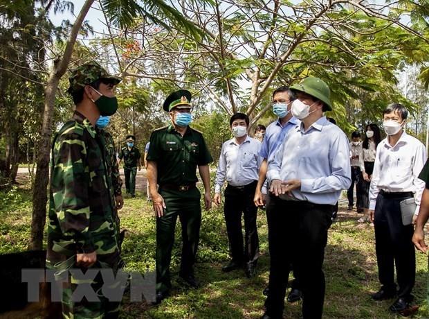 キエンザン省 国境地帯で新型コロナ予防対策を強化 - ảnh 1