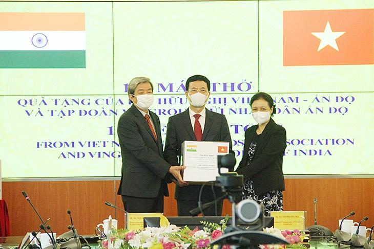 インドに呼吸器100台を贈呈 - ảnh 1