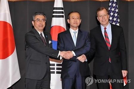 Republik Korea, Jepang dan Amerika Serikat membahas situasi semenanjung Korea - ảnh 1