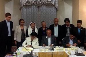 Pemerintah Filipina menargetkan akan menyempurnakan permufakatan kerangka dengan MILF pada tahun 2014 - ảnh 1