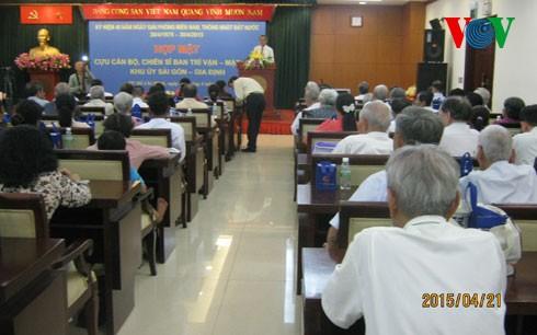 Pertemuan mantan komandan, prajurit Badan penggerakan cendekiawan, Komite Partai Sektor Sai Gon-Gia Dinh - ảnh 1
