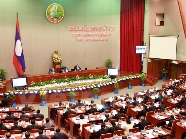 Pembukaan Persidangan ke-9 Parlemen Laos angkatan ke-7 - ảnh 1