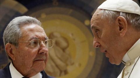 Paus Fransiskus I untuk pertama kalinya melakukan kunjungan di Kuba. - ảnh 1