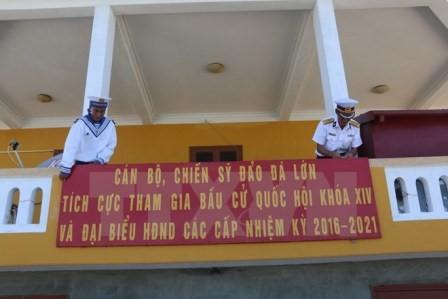 Kabupaten pulau Truong Sa, provinsi Khanh Hoa menyelesaikan pekerjaan persiapan pemilihan - ảnh 1
