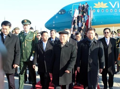 Sekjen KS PKV telah tiba di Beijing, memulai kunjungan  resmi di Republik  Rakyat Tiongkok - ảnh 1