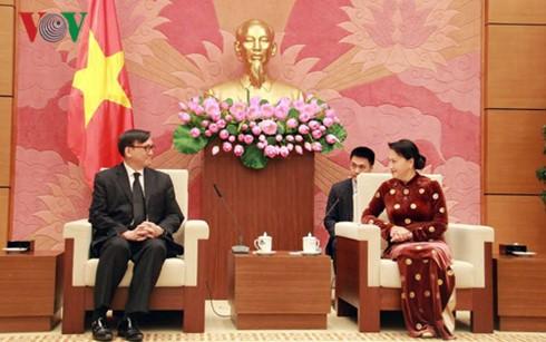 Ketua MN Vietnam, Nguyen Thi Kim Ngan menerima Dubes Thailand, Manopchai  Vongphakdi - ảnh 1