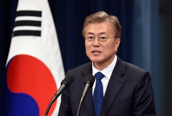 Olimpiade  Pyeong Chang 2018: Presiden Repubulik Korea membuka kemungkinan bertemu dengan Kepala rombongan RDRK - ảnh 1