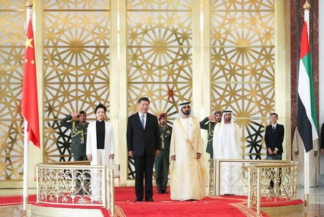 Tiongkok dan Uni Emirat Arab sepakat meningkatkan hubungan  kemitraan strategis dan komprehensif. - ảnh 1