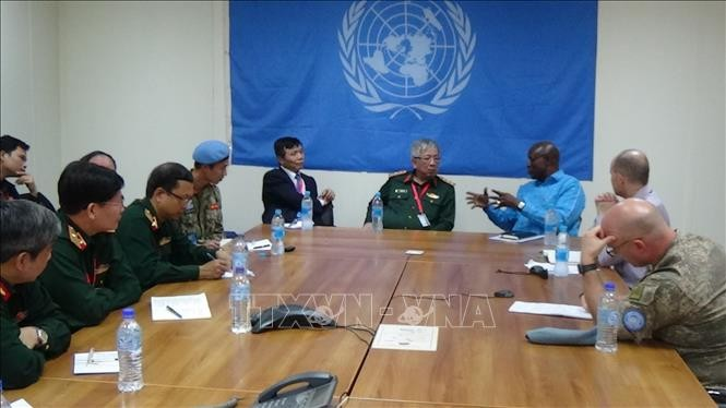 Rombongan Regu Kerja lintas cabang  melakukan temu kerja dengan badan-badan Perutusan UNMISS di Sudan Selatan - ảnh 1