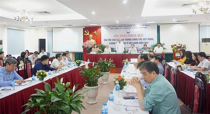 Peranan pers dalam pekerjaan membangun dan merektifikasi Partai Komunis di Vietnam - ảnh 1