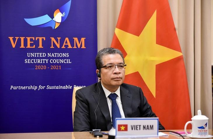 Vietnam siap memberi kontribusi dalam memecahkan bentrokan Israel-Palestina - ảnh 1