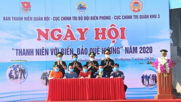Festival  Pemuda  Provinsi Quang Ninh tentang laut dan pulau kampung halaman-tahun 2020 - ảnh 1