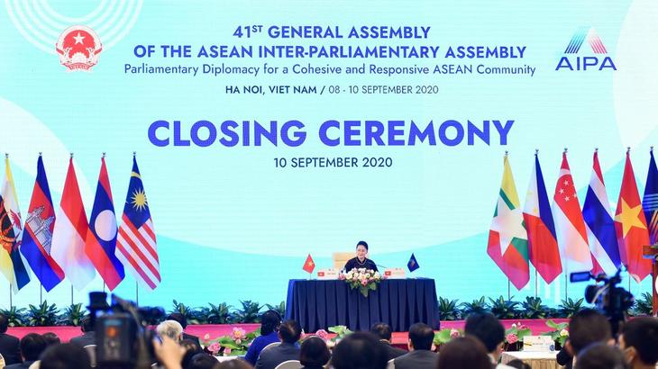 AIPA 41  merupakan kemajuan penting untuk mendorong solidaritas,  kerja sama antar-parlemen negara anggota  ASEAN - ảnh 1
