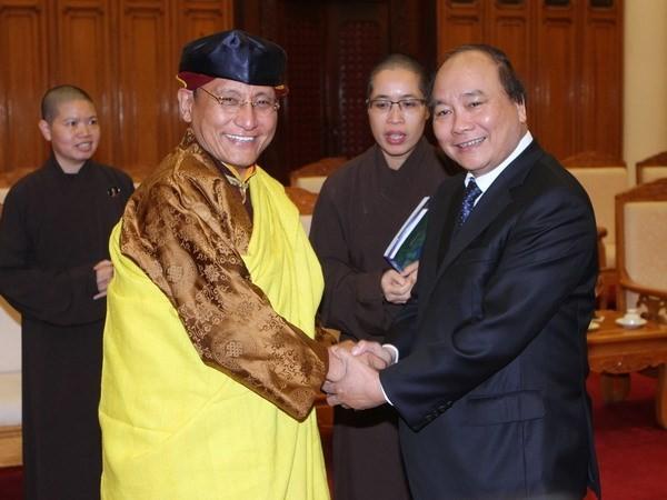 Deputy PM Nguyen Xuan Phuc receives His Holiness Gyalwang Drukpa - ảnh 1