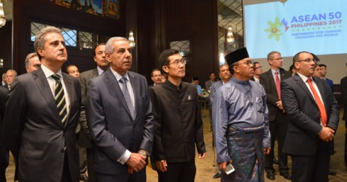 Le 50ème anniversaire de l'ASEAN célébré dans différents pays - ảnh 1