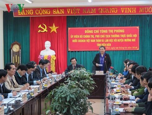 Tong Thi Phong travaille avec les autorités de Muong Nhe - ảnh 1