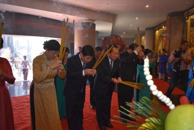 Offrandes aux rois fondateurs Hùng et au génie Nguyên Huu Canh - ảnh 1