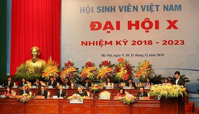 Session plénière du 10e Congrès national des étudiants vietnamiens - ảnh 1