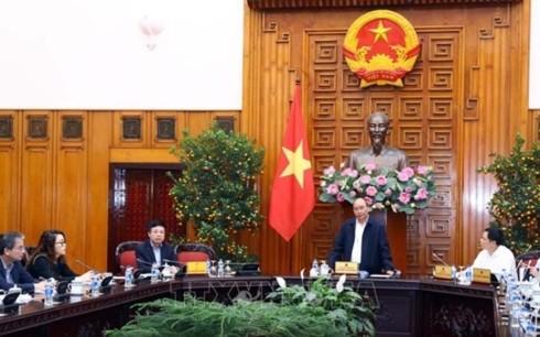 Nguyên Xuân Phuc à une réunion sur le changement climatique dans le delta du Mékong  - ảnh 1