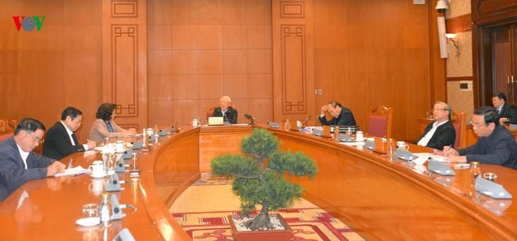 Nguyên Phu Trong souligne l'importance de la sélection des candidatures pour le Comité central du PCV - ảnh 1