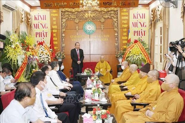 Vesak: Truong Hoà Binh présente ses voeux aux bouddhistes  - ảnh 1