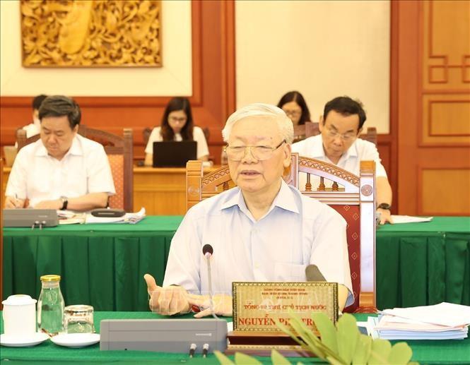Le bureau politique se prononce sur les documents du congrès du Comité du Parti de Hô Chi Minh-ville - ảnh 1