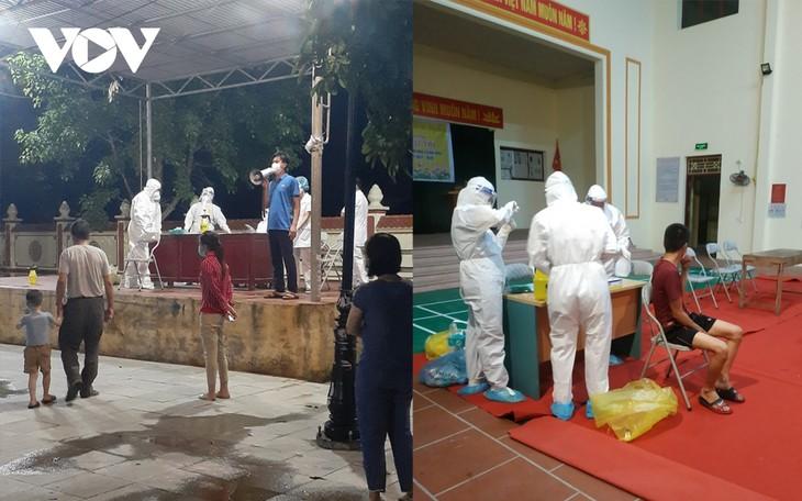 Huyện Thuận Thành (Bắc Ninh) tăng cường lấy mẫu F2 và bố trí các chốt trực 24/24h - ảnh 3