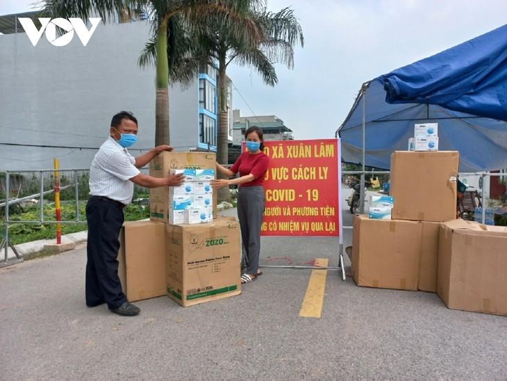 Huyện Thuận Thành (Bắc Ninh) tăng cường lấy mẫu F2 và bố trí các chốt trực 24/24h - ảnh 6