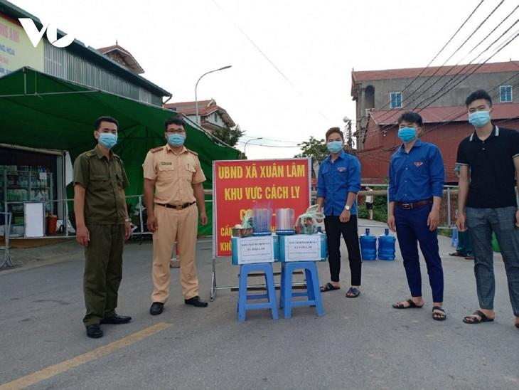Huyện Thuận Thành (Bắc Ninh) tăng cường lấy mẫu F2 và bố trí các chốt trực 24/24h - ảnh 5