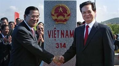 ベトナム・カンボジア、最後の国境標識の設置 - ảnh 1
