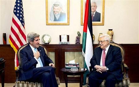 中東和平交渉再開へアラブ連盟の支持確保=米国務長官  - ảnh 1