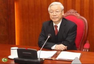 チョン党書記長と中国の習近平国家主席、電話会談を行う - ảnh 1
