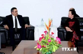 ゾァン国家副主席、モーリシャス、チュニジア、ハイチの指導者と会見 - ảnh 1