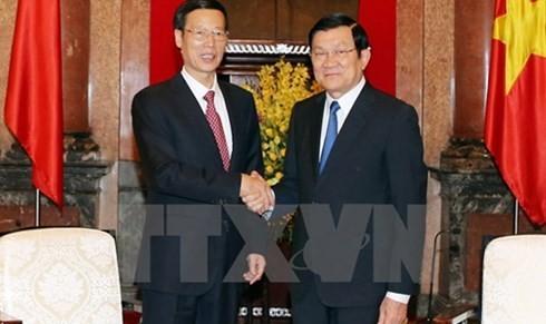 サン国家主席、中国の国務院常務副総理と会見 - ảnh 1