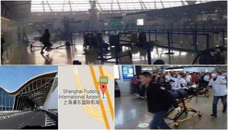上海の空港で爆発 男が「借金で自暴自棄」と書き込み - ảnh 1