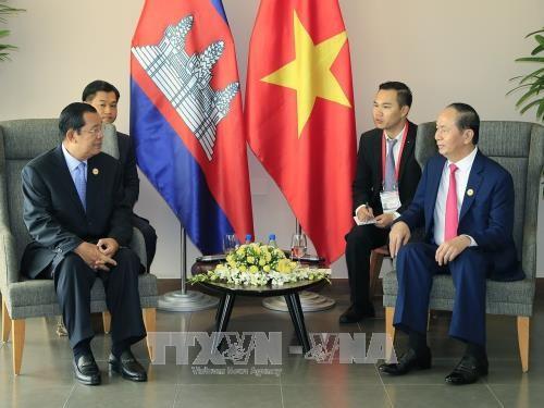クアン主席、ラオス、カンボジア、韓国の指導者と個別会見 - ảnh 2