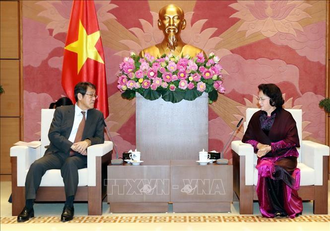 ガン国会議長、在ベトナム日本の大使と会見 - ảnh 1