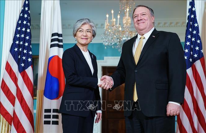 韓米外相が電話会談 新型コロナへの対応など議論 - ảnh 1