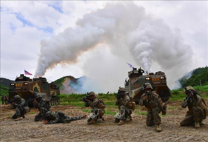 韓国軍、青瓦台に叱責された会議の後に合同火力訓練も延期 - ảnh 1