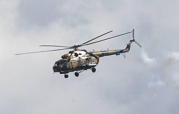 モスクワ郊外で軍事用ヘリMi-8が硬着陸 乗員全員死亡 - ảnh 1