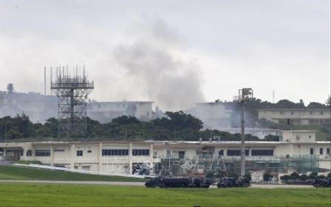 沖縄 米軍嘉手納基地内の施設で火事 有毒な塩素ガス流出か - ảnh 1