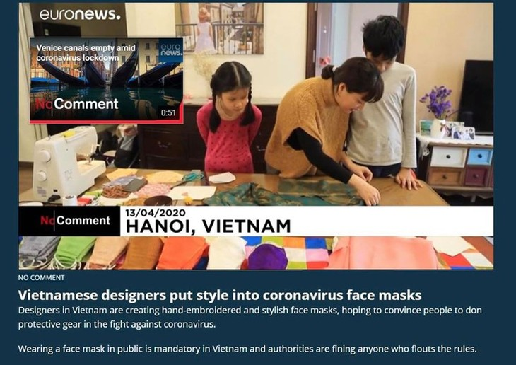 ベトナムの絹製マスクを世界に紹介する女の子 - ảnh 1