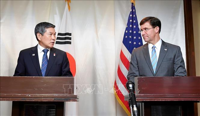 韓米国防相が共同発表文 朝鮮に米朝声明・南北軍事合意の順守要求 - ảnh 1